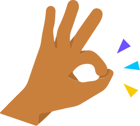graphic of a hand making an okay sign