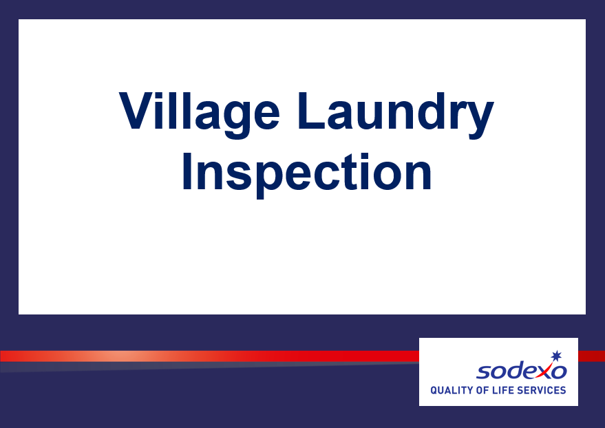 Village Laundry Inspection